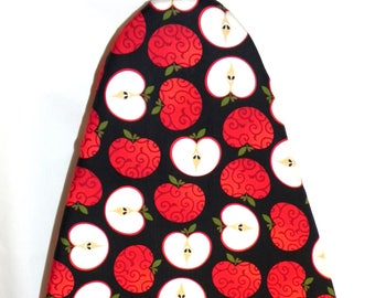 Tabletop Ironing Board Cover - Apple fabric in red, white and black
