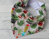 Summer Succulents Bibdana - Baby Boy - Drool Bib