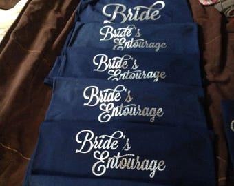 Iron Ons Heat Transfers Bridal Party Bachelorette Party Iron-Ons Wedding Party Bridesmaid Bride Maid of Honor T Shirt Tote Bags