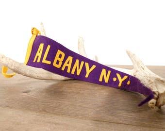 Vintage Albany New York Felt Pennant