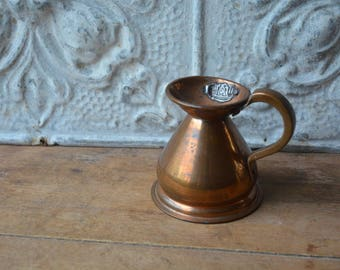 Vintage Copper English Measuring Pitcher