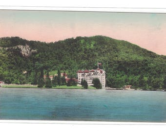"""New Hampshire, Vintage Postcard, """"The Balsams, Dixville Notch, New Hampshire,"""" Hand-colored, around 1910, #1116"""