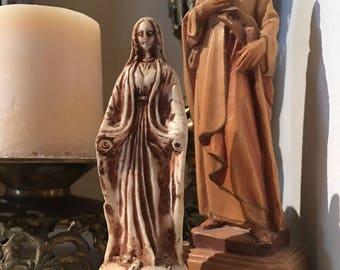 Hold for Rosario- Meryemana statue old mary figurine Turkey Mary shrine Virgin Mary Blessed Mother Turkish Mary no hands mid century religio