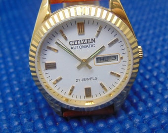 Mens  Citizen 21 Jewel Rotor Automatic, New Old Stock, Day/Date