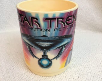 Star Trek The Motion Picture Paramount 1979 Deka Plastic Mug Trekkies Collectibles
