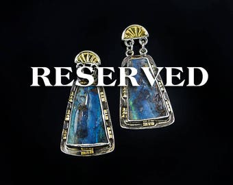 RESERVED - Boundless - Australian Boulder Opal with 18K Gold & Sterling Silver Earrings