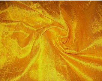 15% off on Wholesale fabric 6 yards of 100 Percentpure dupioni silk in Yellow