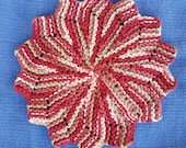 Round Knitted cotton dishcloth, washcloth, facecloth, Home Decor, eco-friendly dishcloth