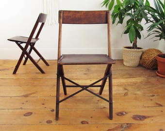 vintage wood folding chairs,wood chairs,vintage stadium chair,vintage deck chair,theater seats,RISOM,JEANNERET,Le CORBUSIER