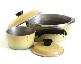 Club Aluminum Dutch Oven 5 Qt, 1 Quart Saucepan Harvest Gold Club Cookware Pots & Pans Dutch Ovens Skillets