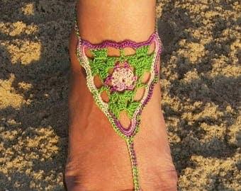 Granny-Tri Crochet Barefoot Sandals