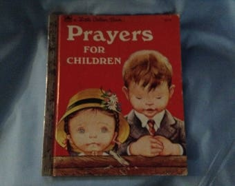 Vintage Little Golden Book Prayers for Children