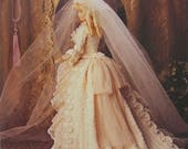 Paradise Publications Crochet Collector Costume Fashion Doll Pattern 1874 Bridal Gown Volume 15 original pattern