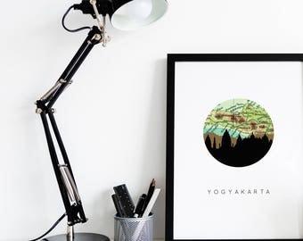 Indonesia map etsy Home decor yogyakarta