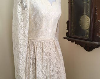 Vintage handmade wedding dress, vintage gown