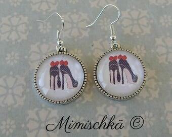 earrings high heels pin up