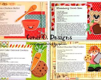 Set of 4 Recipes, Recipe Kit, DIY Kit, Wedding Gift