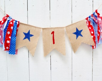 Little Firecracker party - birthday banner - Fourth of July party - 1st birthday - girl birthday - boy birthday - 4th photo prop - 1st party