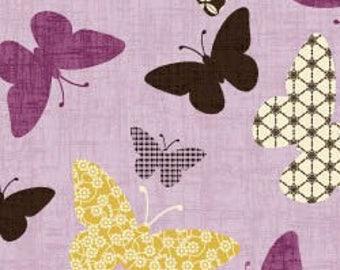 Kimono Garden - Butterflies Light Purple Lavender by Pippa Moon from Studio E