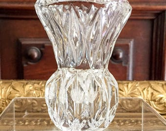 Crystal Bud Vase or Toothpick Holder by Princess House