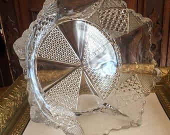 EAPG Fostoria Carmen (#575) or Paneled Diamond and FineCut Bowl