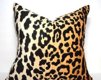 SPRING FORWARD SALE In Stock Braemore Jamil Velvet Cheetah Animal Print Pillow Cover Velvet Black & Tan Pillow Cover Leopard Print Choose Si