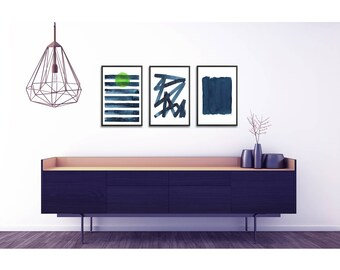 Abstract Poster Set of 3 prints. Large abstract print set. Abstract Art set. Modern home decor. Minimalist wall art. Living room wall art
