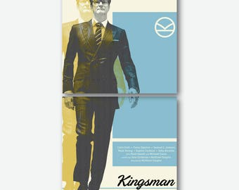 Cork Coasters Set KINGSMAN Movie Poster