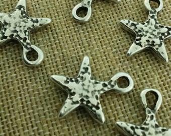 Silver star pendants