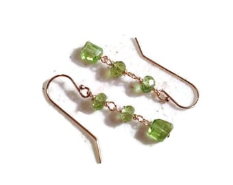 Peridot Earrings - Green Jewelry - Gold Jewelry - August Birthstone Jewellery - Gemstone
