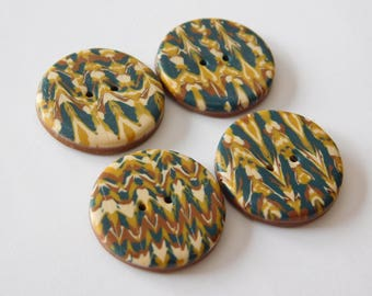 """3/4"""" polymer clay buttons, 19 mm sewing buttons"""