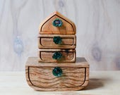Large Reclaimed boat wooden box. Wood grain. Wooden box. Teal Glass. glass drawer pull. Wood drawer box. Glass drawer box. glass and wood