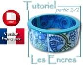 Tutoriel PDF en français pour faire un bracelet : suite de 5 recettes pour les encres sur la pâte polymère