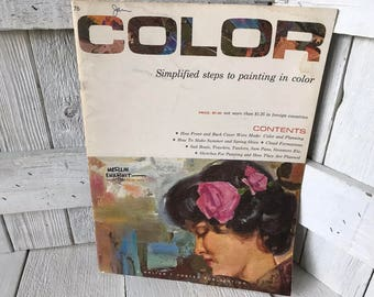 Vintage book Color painting book Walter Foster art instruction 1950s- free shipping US