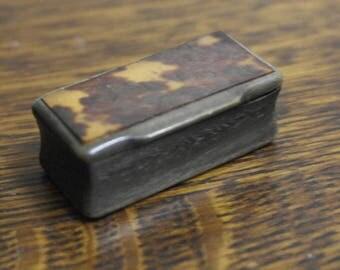 antique small natural snuff box
