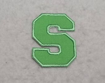 Single 3 inch Upper Case Letter (a - z) (Varsity Collegiate font) MADE to ORDER - Choose COLOR and Letter - Iron on Applique Patch z 6890