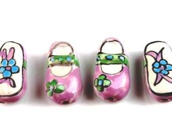 15 Handmade PORCELAIN Beads 21x11x8mm - COD6824