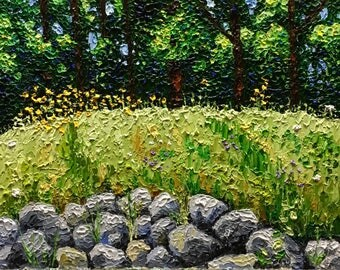 "Original Impressionist Impasto oil 11x14 ""The Waning Summer"""