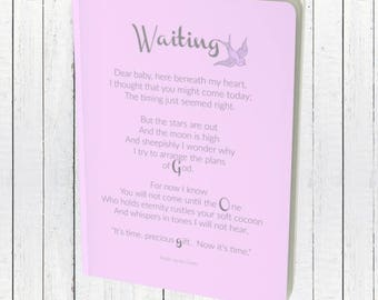 Pregnancy Gift | Pregnancy Journal | Baby Shower Gift Blank Journal Notebook | Pregnancy Diary | Expecting Mom Gift | Expectant Mother Gift