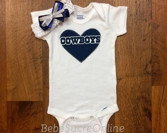 Cowboys Bodysuit AND Headband
