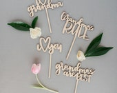 Wooden Grandma Mothers Day planter sticks