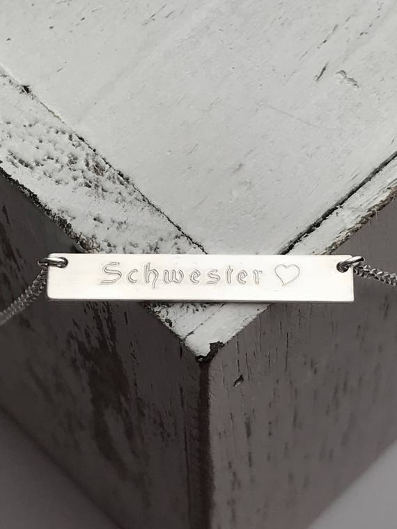 Bar Necklace | Nameplate Necklace Personalized | Rose Gold Fill  Sterling Silver or Gold Filled