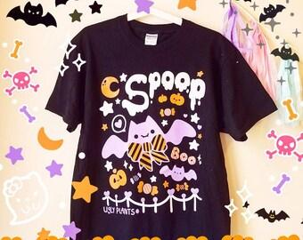 Spooky Cute Halloween T-Shirt - Kawaii Spoop Shirt