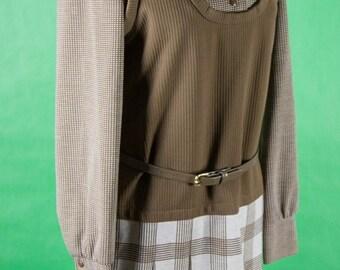 ON SALE 1970s Dropwaist Dress