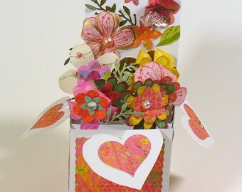 Popup flower Box Garden Card