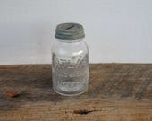 Vintage Mini Atlas Strong Shoulder Mason Bank Jar