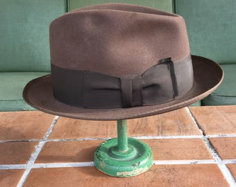 Vintage men's fedora hat derby bolero 1940's Dundee hipster retro accessories