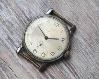 ZIM Vintage Soviet Russian wrist watch for parts. Didn't work.