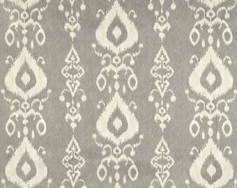 One Tailored Queen/King Bedskirt   - Ikat Pewter -Grey