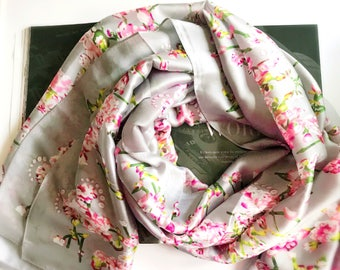 Shades of Pink Floral Print Scarf